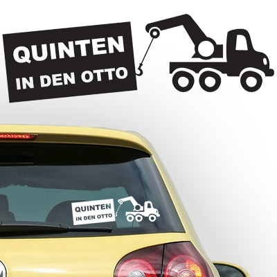 Gepersonaliseerde auto sticker, model 57
