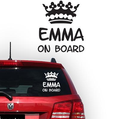 Personalized (baby) on board sticker, model 64
