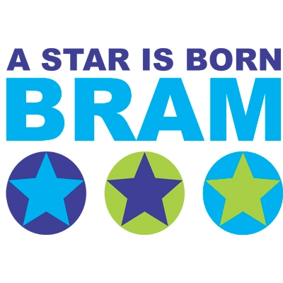 Birth sticker 'A Star s Born 2 Full Color' M25