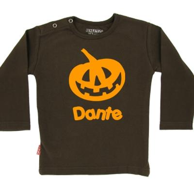 Halloween shirt 'Pompoen 1' - lange mouwen