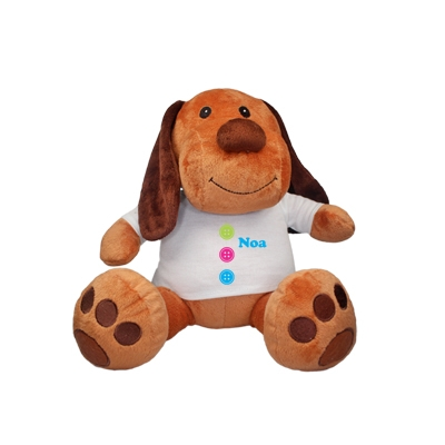 Cuddle toy with name - buttons