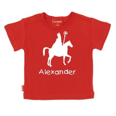 Paard - Sinterklaas shirt/slab met lange of korte mouwen
