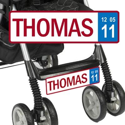 Belgische nummerplaat voor je kinderwagen