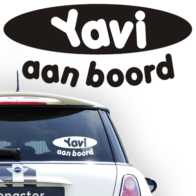 Gepersonaliseerde autosticker, model 1