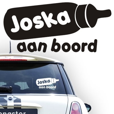 Gepersonaliseerde autosticker, model 4
