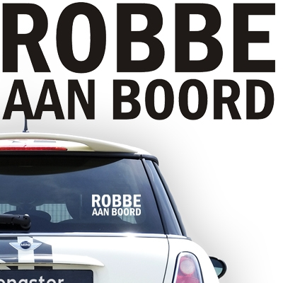 Gepersonaliseerde autosticker, model 17