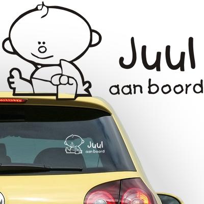 Personalized (baby) on board sticker, model 21