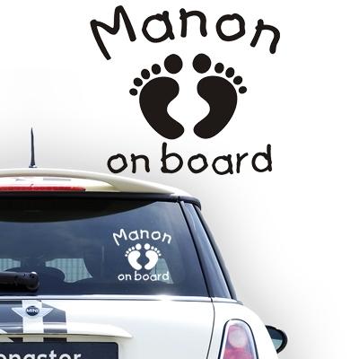 Personalized (baby) on board sticker, model 35