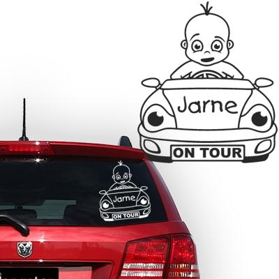 Personalized (baby) on board sticker, model 37