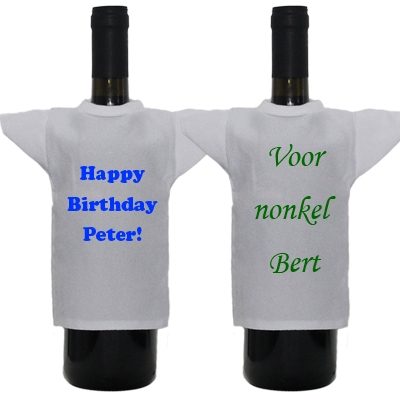 Bottle shirt with text