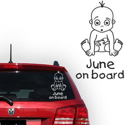 Personalized (baby) on board sticker, model 40