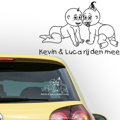 Gepersonaliseerde auto sticker, model 51