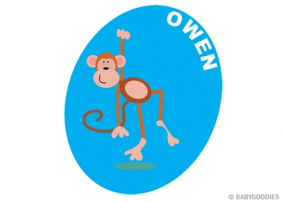 Wall sticker with name: Monkey