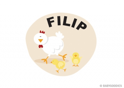 Wall sticker with name: Chicken