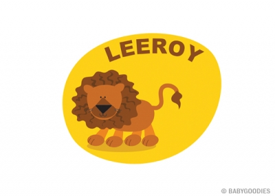 Wall sticker with name: Lion