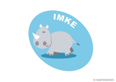 Wall sticker with name: Rhinoceros