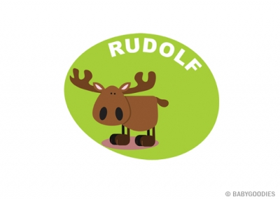 Wall sticker with name: Reindeer