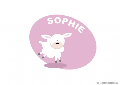Wall sticker with name: Sheep