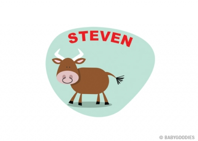 Wall sticker with name: Bull