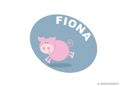 Wall sticker with name: Pig