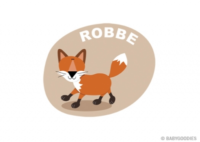 Wall sticker with name: Fox