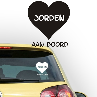 Gepersonaliseerde autosticker, model 14