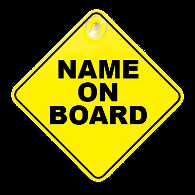 Panneaux Baby on board personnalisé