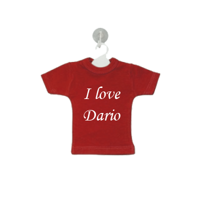 Mini Tshirt with name, red