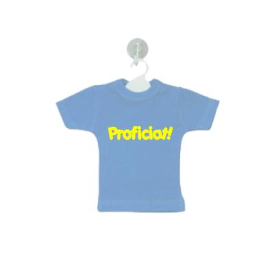 Mini shirtje met vrije tekst, lichtblauw