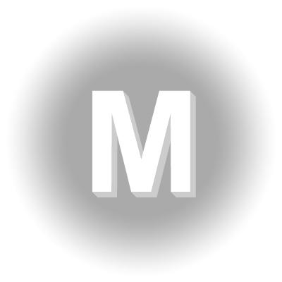 Lettres en polystyrène expansé: M