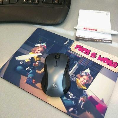 Tapis de souris avec photo et texte