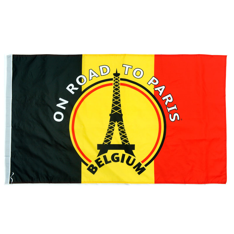 Drapeau 'On road to Paris' Belgique