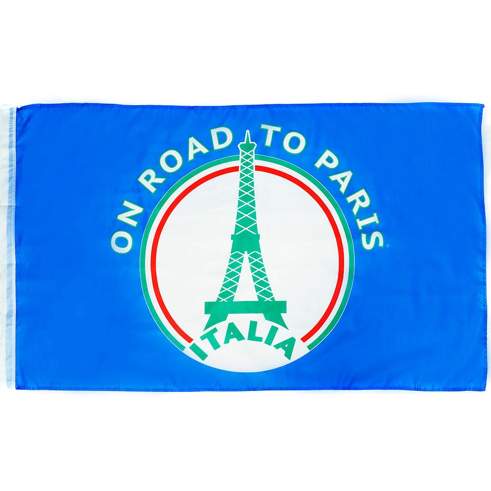 Vlag 'On road to Paris' Italië