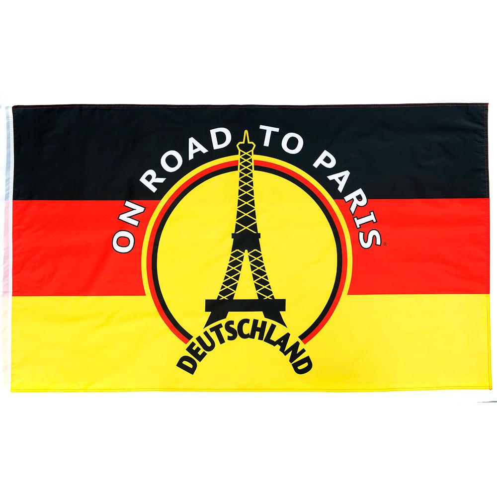 Vlag 'On road to Paris' Duitsland