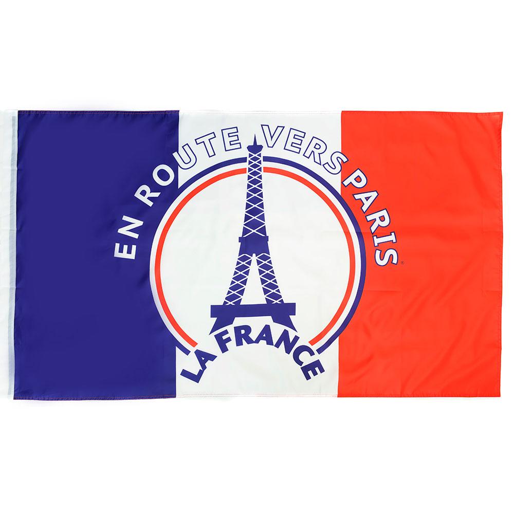 Vlag 'En route vers Paris' Frankrijk