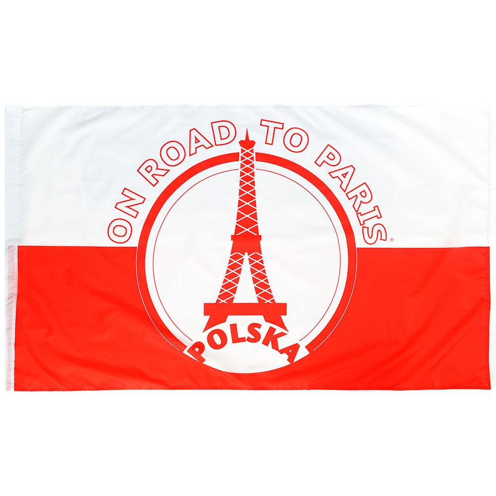 Vlag 'On road to Paris' Polen