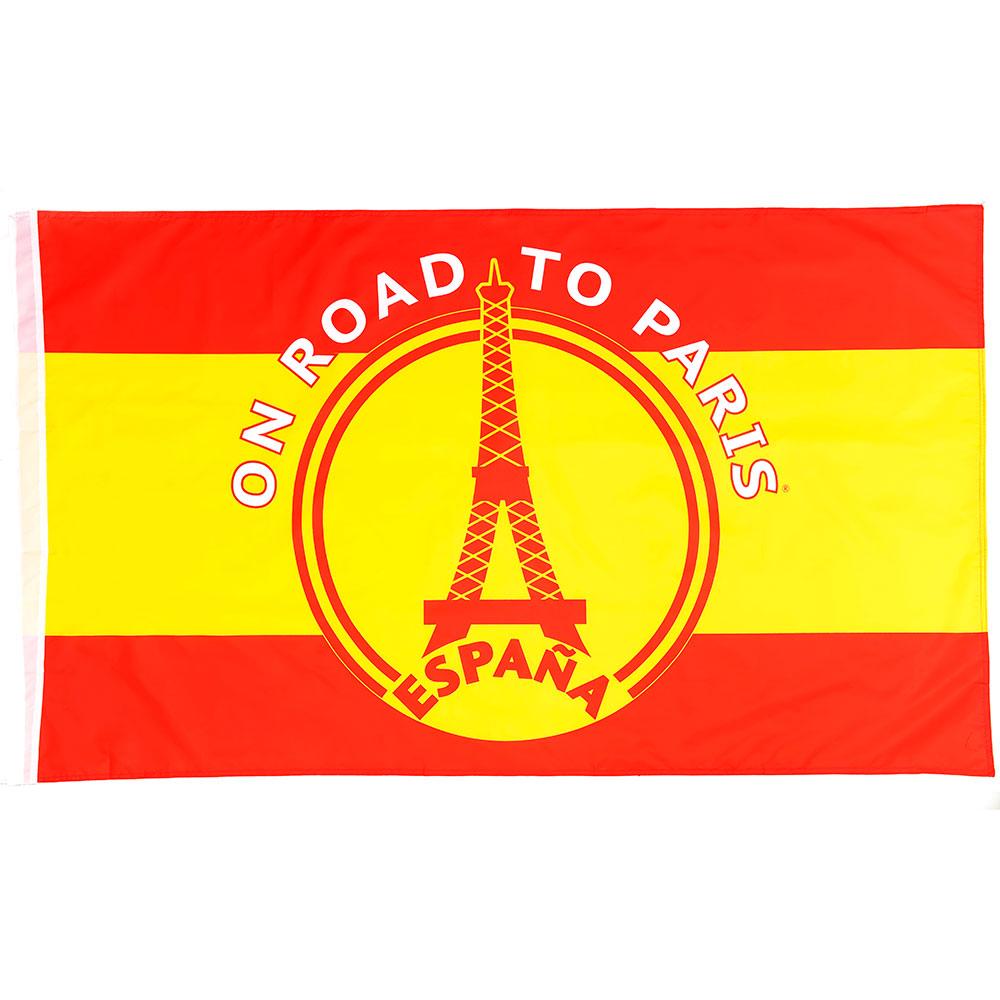 Vlag 'On road to Paris' Spanje