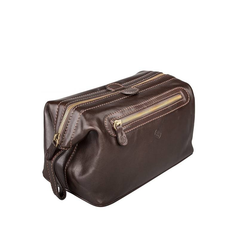 e8b3a6c15a The DunoL - Mens Leather Wash Bag