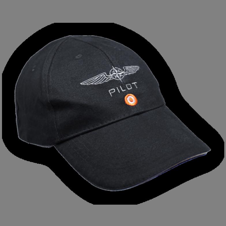 D4P Pilot Caps Cotton Black