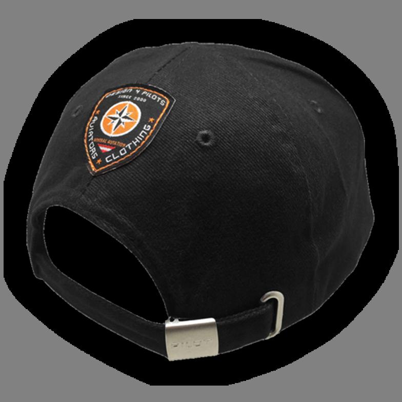 D4P Pilot Caps Cotton Black backside