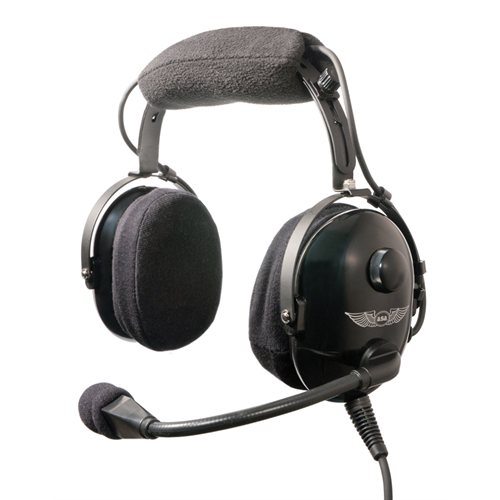 asa airclassics hs-1a headset - flyinsite pilot shop