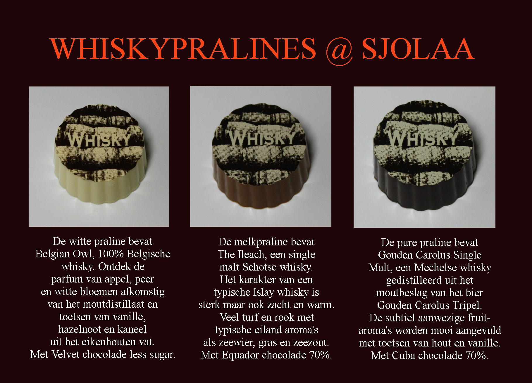 whiskypralines foto met uitleg