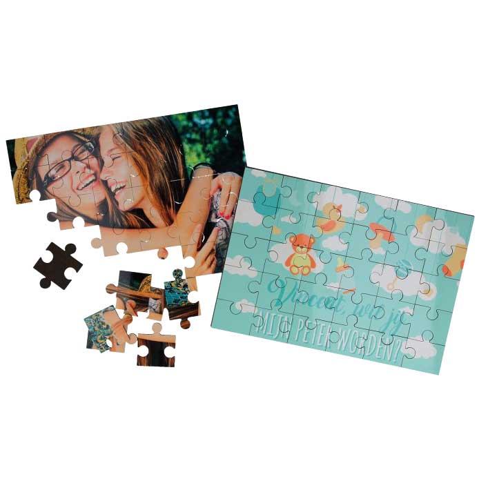 Puzzel met tekst en/of foto