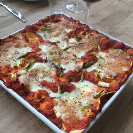 Food by the glass - vegetarische lasagna
