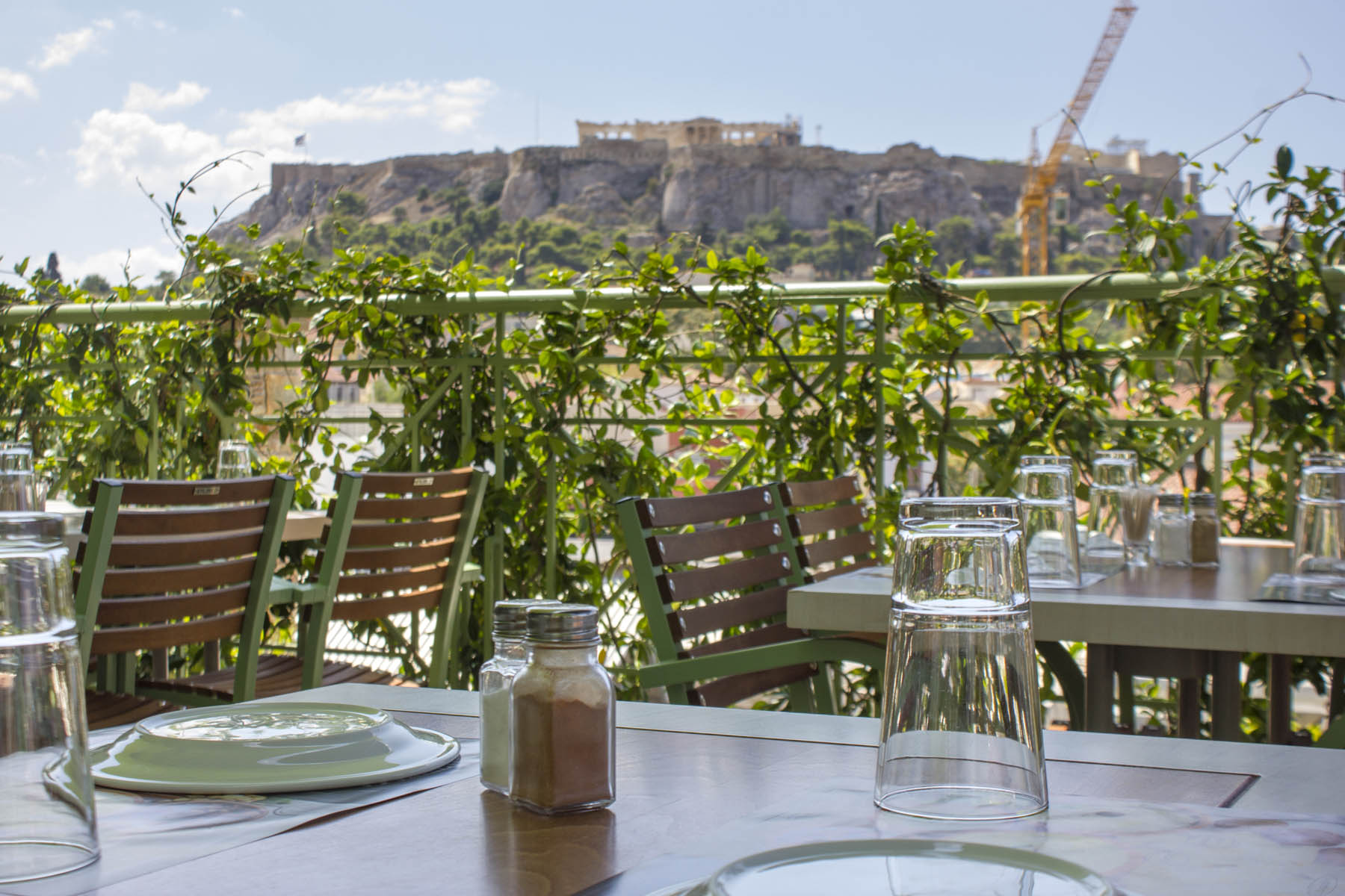 roof garden bars restaurants with acropolis view in athens greece