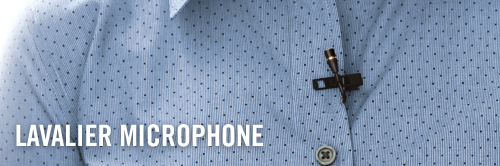 lavalier microphone on shirt