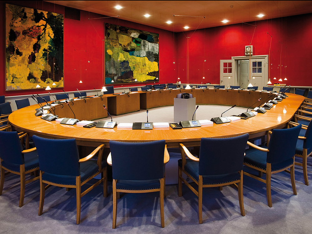 City Council Room with Discussion System