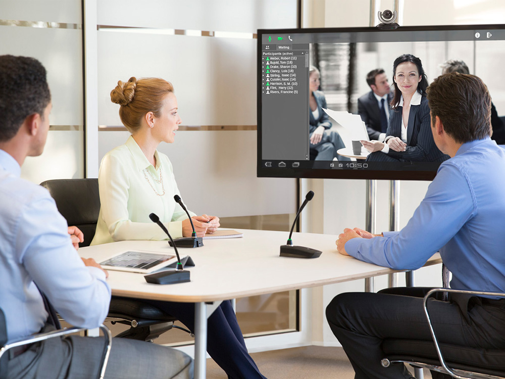 Videoconferencing with Gooseneck Mics