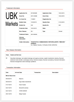Країна: ТуреччинаНомер реєстрації: 1154601 Дата отримання: 2016