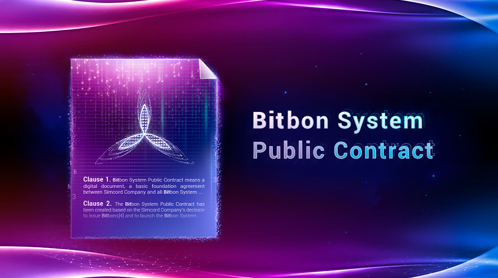Update of Terms and Definitions of the Bitbon System and of the Bitbon System Public Contract